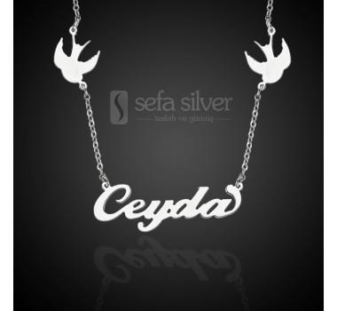 Kuş Figürlü Gümüş Özgürlük Kolyesi