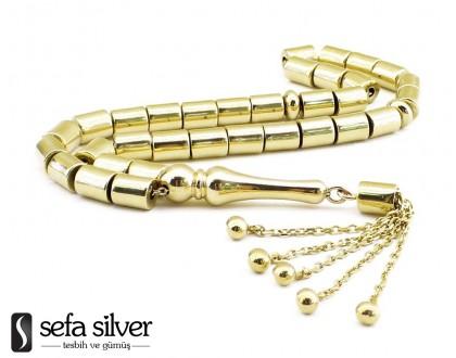 14 Ayar Altın Kesme Model Altın Tesbih