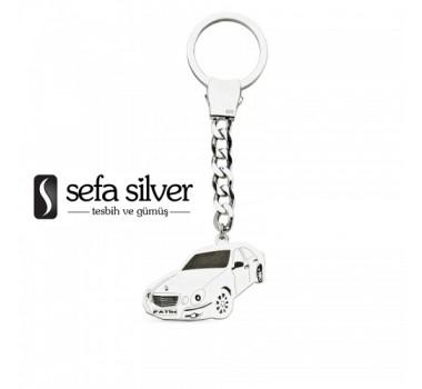 Araba Gümüş Anahtarlık