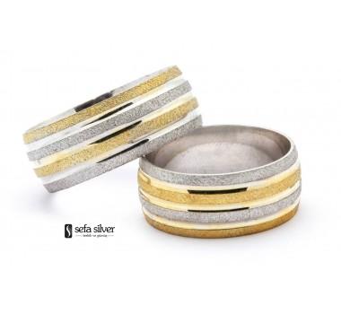 Altın Modeli Gümüş Alyans