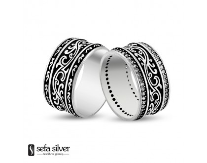 Özel Tasarım Gümüş Alyans