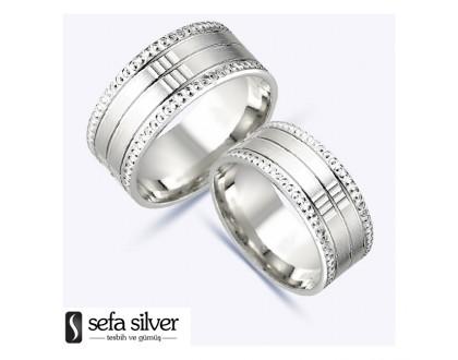 Sade Tasarım Gümüş Alyans