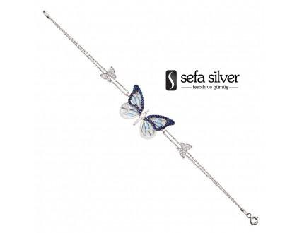 Kelebekli Gümüş Bileklik