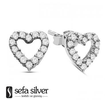 Kalpli Vidalı Gümüş Küpe