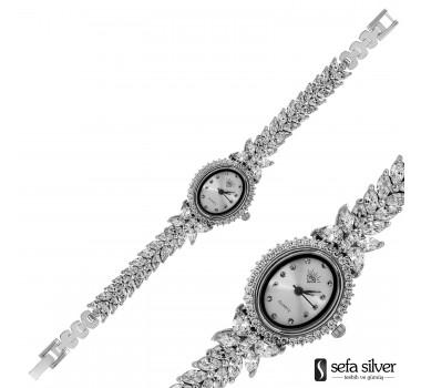 Zirkon Taşlı 925 Ayar Gümüş Saat