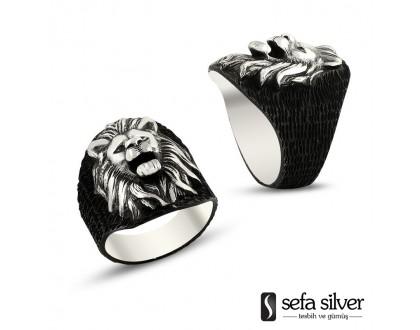 Aslan Başı Gümüş Yüzük
