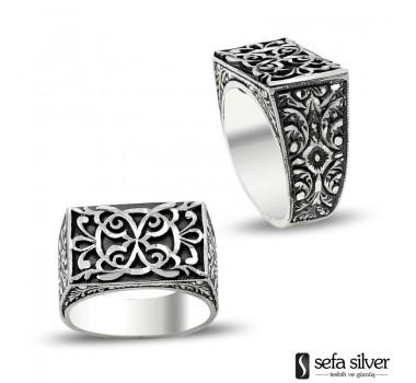 El Yapımı Taşsız Gümüş Erkek Yüzüğü
