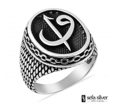Elif Vavlı Erkek Gümüş Yüzüğü