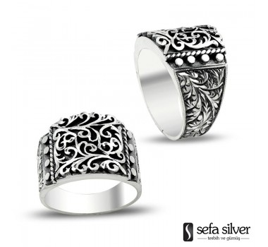 Erzurum El İşi Gümüş Yüzük