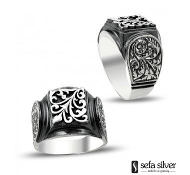 Erzurum El Yapımı Gümüş Yüzük