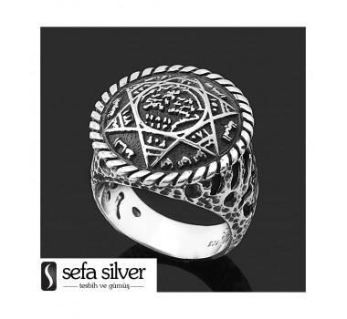 Hz Süleyman Mührü Gümüş Yüzük