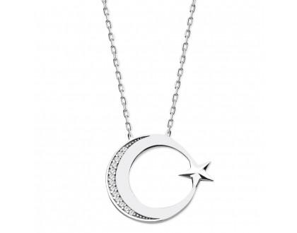 Ayyıldız Gümüş Kolye