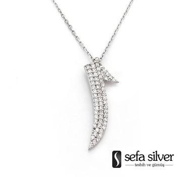 Elifli Gümüş Kolye